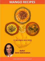 Mango Recipes E-Book - Top 15 Mango Recipes For Indian Food